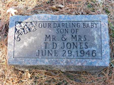 JONES, INFANT SON - Union County, Arkansas | INFANT SON JONES - Arkansas Gravestone Photos