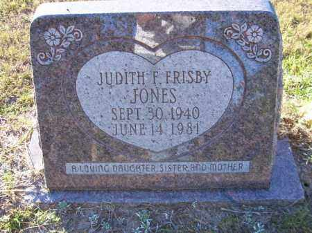 FRISBY JONES, JUDITH F - Union County, Arkansas | JUDITH F FRISBY JONES - Arkansas Gravestone Photos