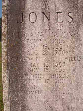 WILLIS JONES, AMANDA PRISCILLA - Union County, Arkansas | AMANDA PRISCILLA WILLIS JONES - Arkansas Gravestone Photos