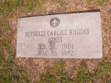 CARGILE RHODES JONES, RUTHELLE - Union County, Arkansas | RUTHELLE CARGILE RHODES JONES - Arkansas Gravestone Photos