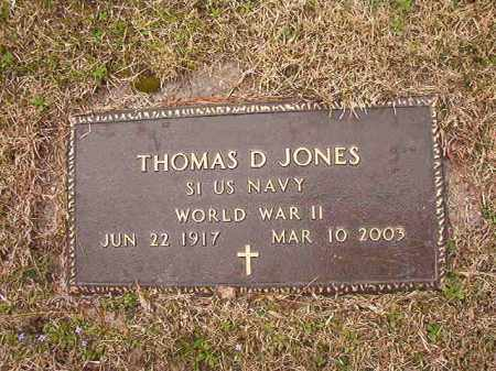 JONES (VETERAN WWII), THOMAS D - Union County, Arkansas | THOMAS D JONES (VETERAN WWII) - Arkansas Gravestone Photos