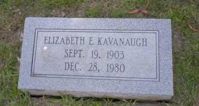 KAVANAUGH, ELIZABETH E - Union County, Arkansas | ELIZABETH E KAVANAUGH - Arkansas Gravestone Photos
