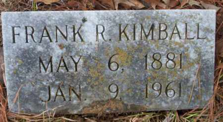 KIMBALL, FRANK R - Union County, Arkansas | FRANK R KIMBALL - Arkansas Gravestone Photos