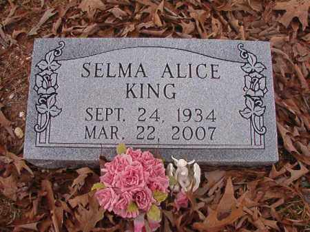KING, SELMA ALICE - Union County, Arkansas | SELMA ALICE KING - Arkansas Gravestone Photos
