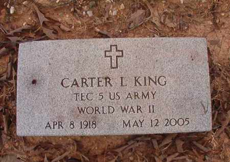 KING (VETERAN WWII), CARTER L - Union County, Arkansas | CARTER L KING (VETERAN WWII) - Arkansas Gravestone Photos