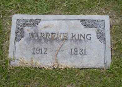 KING, WARRENE - Union County, Arkansas | WARRENE KING - Arkansas Gravestone Photos