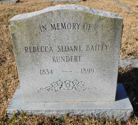 BAILEY KUNDERT, REBECCA SLOANE - Union County, Arkansas | REBECCA SLOANE BAILEY KUNDERT - Arkansas Gravestone Photos
