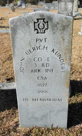KUNDERT (VETERAN CSA), JOHN ULRICH - Union County, Arkansas | JOHN ULRICH KUNDERT (VETERAN CSA) - Arkansas Gravestone Photos