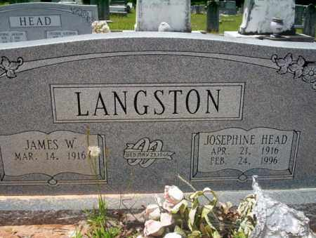 LANGSTON, JOSEPHINE - Union County, Arkansas | JOSEPHINE LANGSTON - Arkansas Gravestone Photos