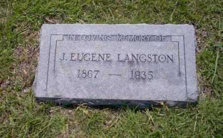 LANGSTON, J. EUGENE - Union County, Arkansas | J. EUGENE LANGSTON - Arkansas Gravestone Photos