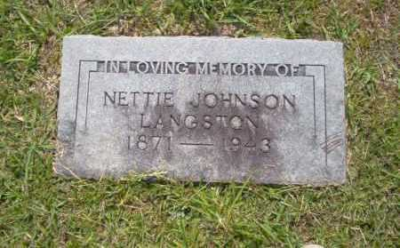 LANGSTON, NETTIE - Union County, Arkansas | NETTIE LANGSTON - Arkansas Gravestone Photos