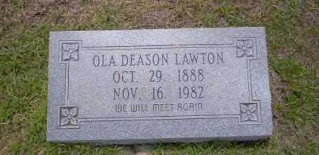 DEASON LAWTON, OLA - Union County, Arkansas | OLA DEASON LAWTON - Arkansas Gravestone Photos