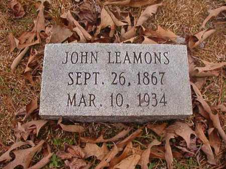 LEAMONS, JOHN - Union County, Arkansas | JOHN LEAMONS - Arkansas Gravestone Photos