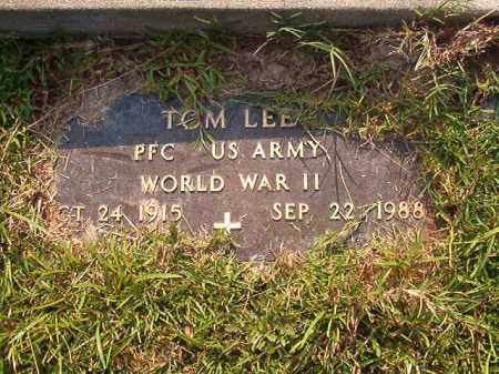 LEE (VETERAN WWII), TOM - Union County, Arkansas | TOM LEE (VETERAN WWII) - Arkansas Gravestone Photos