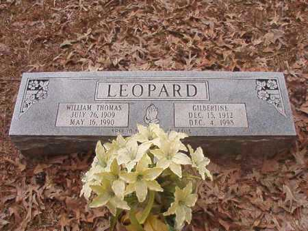 LEOPARD, WILLIAM THOMAS - Union County, Arkansas | WILLIAM THOMAS LEOPARD - Arkansas Gravestone Photos