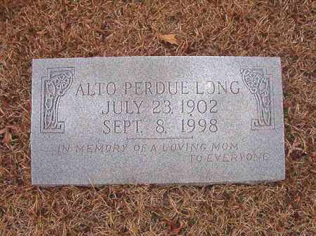 PERDUE LONG, ALTO - Union County, Arkansas | ALTO PERDUE LONG - Arkansas Gravestone Photos
