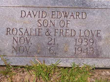 LOVE, DAVID EDWARD - Union County, Arkansas | DAVID EDWARD LOVE - Arkansas Gravestone Photos