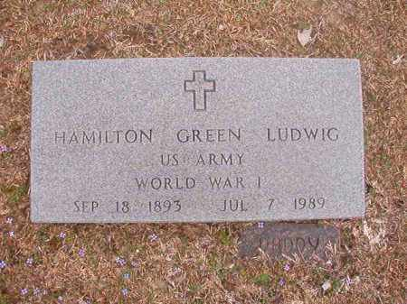 LUDWIG (VETERAN WWI), HAMILTON GREEN - Union County, Arkansas | HAMILTON GREEN LUDWIG (VETERAN WWI) - Arkansas Gravestone Photos