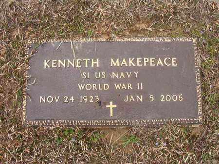 MAKEPEACE (VETERAN WWII), KENNETH - Union County, Arkansas | KENNETH MAKEPEACE (VETERAN WWII) - Arkansas Gravestone Photos