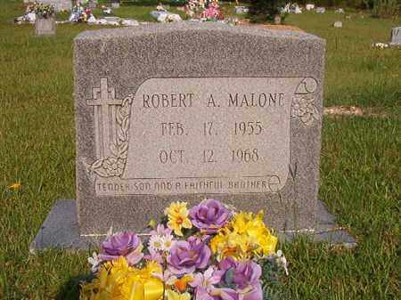 MALONE, ROBERT A - Union County, Arkansas | ROBERT A MALONE - Arkansas Gravestone Photos