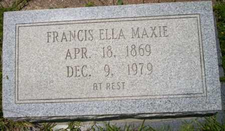 MAXIE, FRANCIS ELLA - Union County, Arkansas | FRANCIS ELLA MAXIE - Arkansas Gravestone Photos