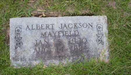 MAYFIELD, ALBERT JACKSON - Union County, Arkansas | ALBERT JACKSON MAYFIELD - Arkansas Gravestone Photos