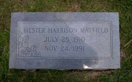 HARRISON MAYFIELD, HESTER - Union County, Arkansas | HESTER HARRISON MAYFIELD - Arkansas Gravestone Photos