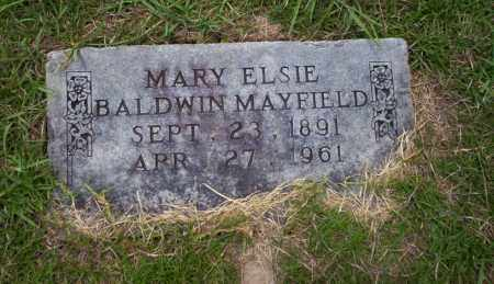 BALDWIN MAYFIELD, MARY ELSIE - Union County, Arkansas | MARY ELSIE BALDWIN MAYFIELD - Arkansas Gravestone Photos