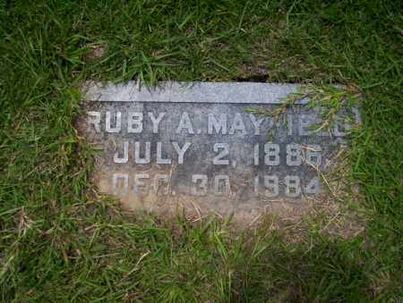 MAYFIELD, RUBY A - Union County, Arkansas | RUBY A MAYFIELD - Arkansas Gravestone Photos