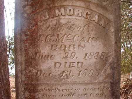MORGAN MCCAIN, M J - Union County, Arkansas | M J MORGAN MCCAIN - Arkansas Gravestone Photos