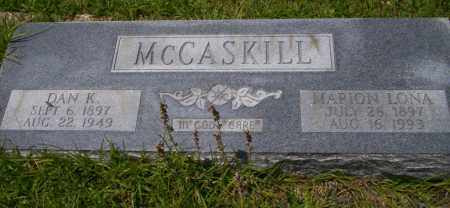 MCCASKILL, DAN K - Union County, Arkansas | DAN K MCCASKILL - Arkansas Gravestone Photos