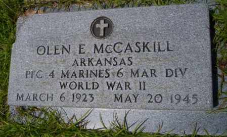 MCCASKILL (VETERAN WWII), OLEN E - Union County, Arkansas | OLEN E MCCASKILL (VETERAN WWII) - Arkansas Gravestone Photos
