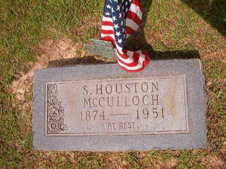 MCCULLOCH, S HOUSTON - Union County, Arkansas | S HOUSTON MCCULLOCH - Arkansas Gravestone Photos