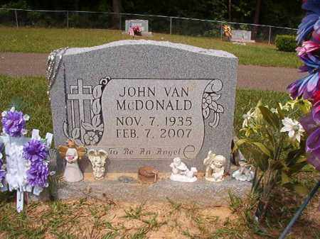 MCDONALD, JOHN VAN - Union County, Arkansas | JOHN VAN MCDONALD - Arkansas Gravestone Photos