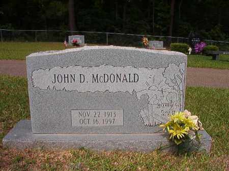 MCDONALD, JOHN D - Union County, Arkansas | JOHN D MCDONALD - Arkansas Gravestone Photos