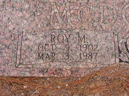 MCDONALD, ROY M - Union County, Arkansas | ROY M MCDONALD - Arkansas Gravestone Photos