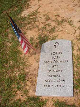 MCDONALD (VETERAN KOR), JOHN VAN - Union County, Arkansas | JOHN VAN MCDONALD (VETERAN KOR) - Arkansas Gravestone Photos