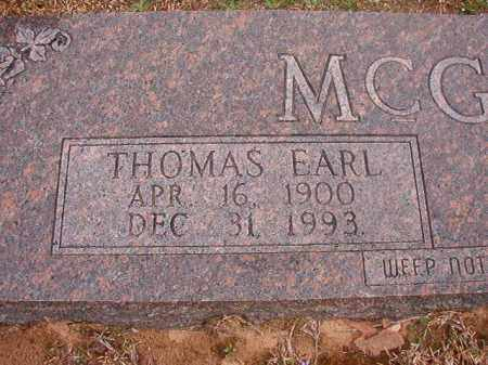 MCGOUGH, THOMAS EARL - Union County, Arkansas | THOMAS EARL MCGOUGH - Arkansas Gravestone Photos