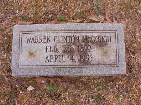 MCGOUGH, WARREN CLINTON - Union County, Arkansas | WARREN CLINTON MCGOUGH - Arkansas Gravestone Photos