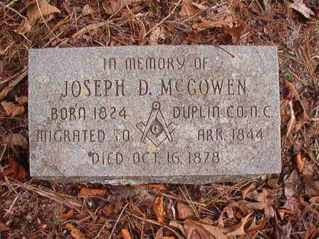 MCGOWEN, JOSEPH D - Union County, Arkansas | JOSEPH D MCGOWEN - Arkansas Gravestone Photos