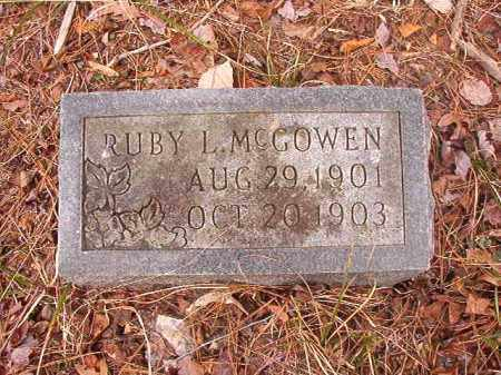 MCGOWEN, RUBY L - Union County, Arkansas | RUBY L MCGOWEN - Arkansas Gravestone Photos