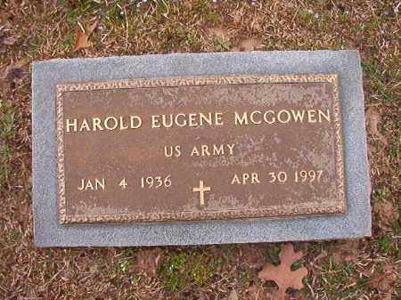 MCGOWEN (VETERAN), HAROLD EUGENE - Union County, Arkansas | HAROLD EUGENE MCGOWEN (VETERAN) - Arkansas Gravestone Photos