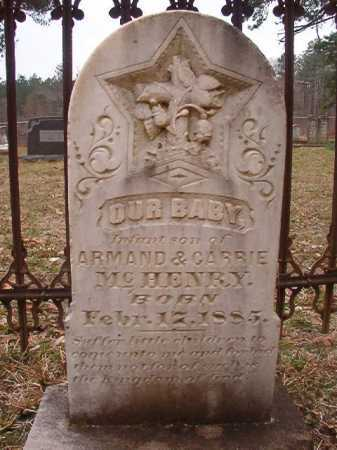 MCHENRY, INFANT SON - Union County, Arkansas | INFANT SON MCHENRY - Arkansas Gravestone Photos