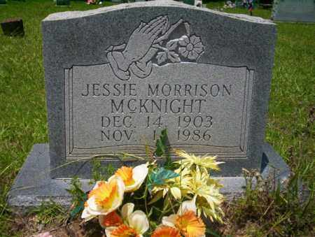 MORRISON MCKNIGHT, JESSIE - Union County, Arkansas | JESSIE MORRISON MCKNIGHT - Arkansas Gravestone Photos