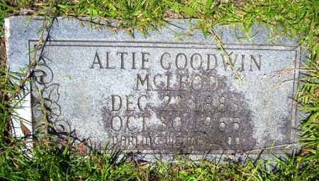 MCLEOD, ALTIE - Union County, Arkansas | ALTIE MCLEOD - Arkansas Gravestone Photos