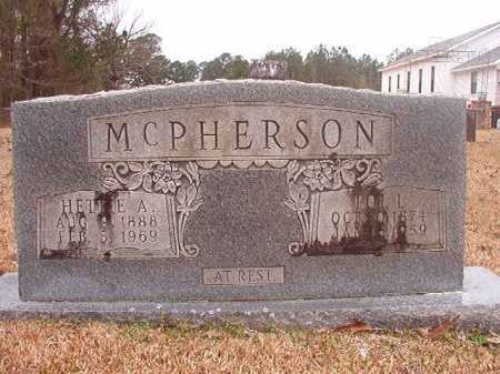 MCPHERSON, HETTIE A - Union County, Arkansas | HETTIE A MCPHERSON - Arkansas Gravestone Photos