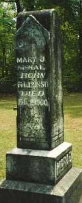 STRAIN MCRAE, MARY J. - Union County, Arkansas | MARY J. STRAIN MCRAE - Arkansas Gravestone Photos