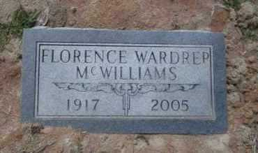 WARDREP MCWILLIAMS, FLORENCE - Union County, Arkansas | FLORENCE WARDREP MCWILLIAMS - Arkansas Gravestone Photos