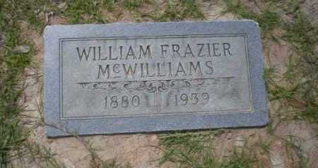 MCWILLIAMS, WILLIAM FRAZIER - Union County, Arkansas | WILLIAM FRAZIER MCWILLIAMS - Arkansas Gravestone Photos