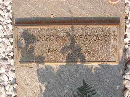 MEADOWS, DOROTHY - Union County, Arkansas | DOROTHY MEADOWS - Arkansas Gravestone Photos